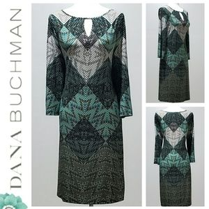 Dana Buchman Multicolored Dress Sz 12